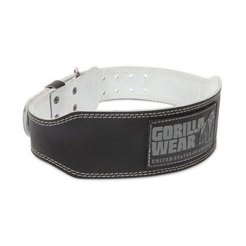 Gorilla Wear 4 Inch Padded Leather Belt Black
